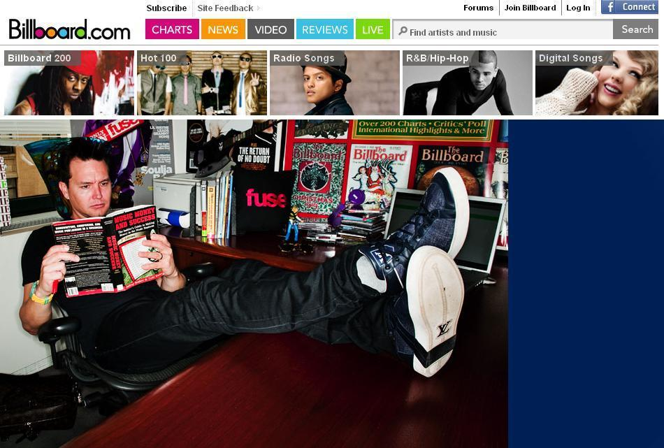 mark hoppus billboard.com home page 10.25.10
